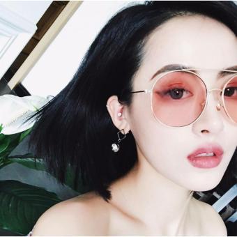 Kính mát nữ gọng bi Sino S2017 màu hồng