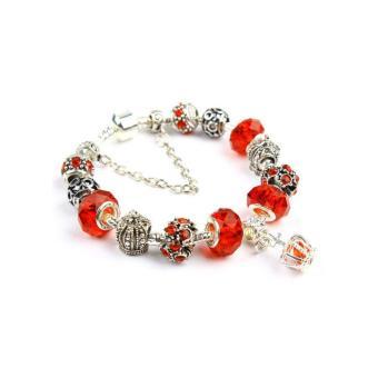 Vòng tay mạ bạc hạt charms cao cấp Jewelry Queen Victoria Charm Panda DZ31