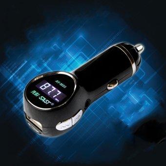 Bộ phát MP3 qua sóng FM 3 trong 1 cho ô tô SAST AY-M80 (đen)