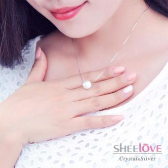 Dây chuyền bạc ngọc trai thời trang xinh xắn Hàn Quốc SPN-100891(Bạc)