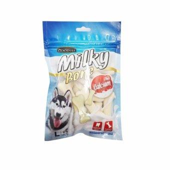 Thức ăn vặt gặm sạch răng cho chó cưng Milky bone size L