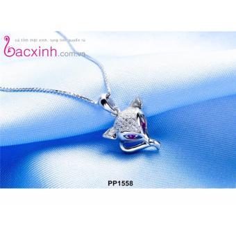 Mặt dây chuyền nữ trang sức bạc Ý S925 Bạc Xinh - Hồ ly quyến rũ PP1558