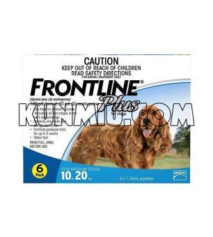 Thuốc nhỏ rận cho chó từ 10-20kg Frontline Plus-1 tuýp