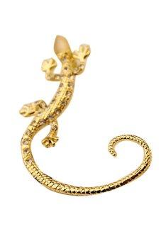Fancyqube Fashion Rhinestone Ear Cuff Earrings Luxury Earrings Gold