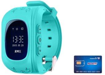 Đồng hồ định vị an toàn trẻ em GPS Smartwatch Và 01 Sim 3G Trọn Gói 12 Tháng 4G/Tháng ( Xanh Dương)