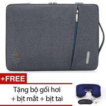 Túi chống xốc Macbook 15inh Upotimal (Xám) + Tặng bộ 1 gối hơi + 1 bịt mắt + 1 bịt tai