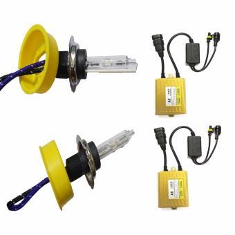 Bộ đèn xenon HID H7 xe ô tô 55W 4300K siêu sáng ( vàng )
