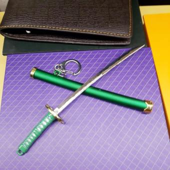 Móc chìa khóa kiếm nhật samurai xanh lá cực ngầu