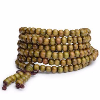 Vòng chuỗi hạt tràng hạt nữ 216 hạt 6mm xanh bằng gỗ thời trang