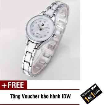 Đồng hồ nữ dây hợp kim cao cấp ID IDW S0222 (Trắng) + Tặng kèm voucher bảo hành IDW