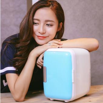 Tủ lạnh mini cho ô tô, xe hơi siêu mát mẫu xanh da trời)