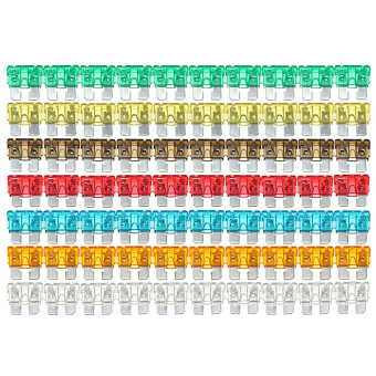 120PC Assorted Mixed Standard Car Auto Blade Fuse 5 7.5 10 15 20 25 30 AMP - Intl