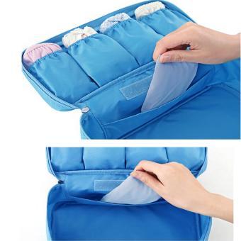 Túi đựng đồ lót du lịch cao cấp chống thấm oxford HQ205903 -1a (Xanh lam)
