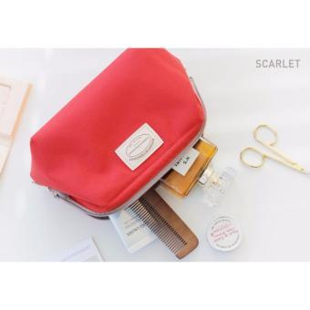 Túi đựng đồ mỹ phẩm không thấm nước kiểu Hàn Quốc (đỏ scarlet)