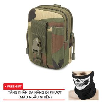 Túi Đeo Hông Quân Đội PRAZA DC081 (Xanh) Tặng Kèm Khăn Đa Năng