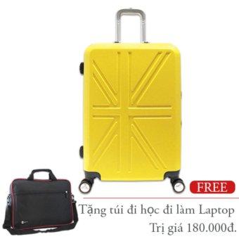 Vali nhựa cứng Khung Nhôm Khóa Sập 5 tấc đựng 7Kg màu vàng TA264