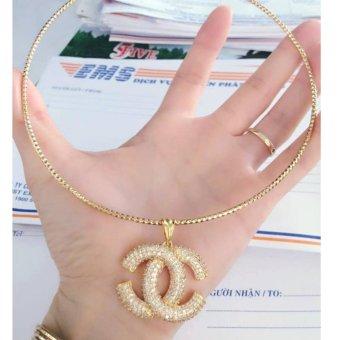 Kiềng Cổ Xi Vàng 18K Chanel Lớn Pha Lê Cuộn Gadoshop