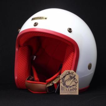 Mũ bảo hiểm BULLDOG-(WHE+RED)