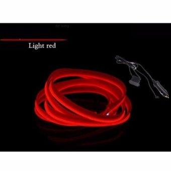 Đèn led xe hơi ô tô trang trí nội thất có jack mồi thuốc dài 5m (đỏ)