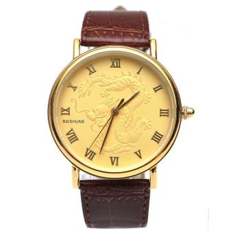 Đồng hồ nam dây da mặt nạm rồng BS168
