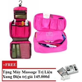 Bộ túi đựng đồ cá nhân du lịch và túi đựng đồ lót du lịch (Hồng) + Tặng Máy mát-xa xung điện trị liệu cho deal 24h SYK 208 4 miếng dán (Trắng)