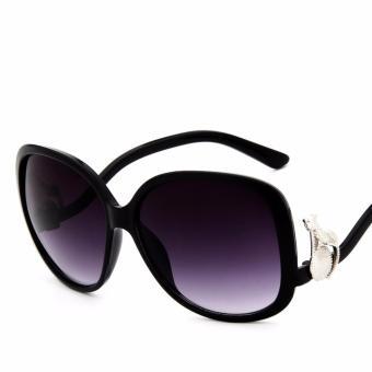 Mắt kính thời trang , chống nắng chống bụi cao cấp + bao da bảo vệ kính H187(ĐEN)