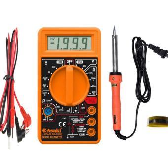 Đồng hồ vạn năng Asaki AK-9180 kèm mỏ hàng saki AK-9040