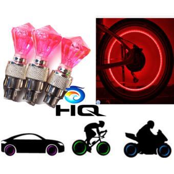 Đèn Led Gắn Van Xe Trang Trí Và An Toàn Cho Ôto,Xe Máy HQ 3TI09-21(đỏ)