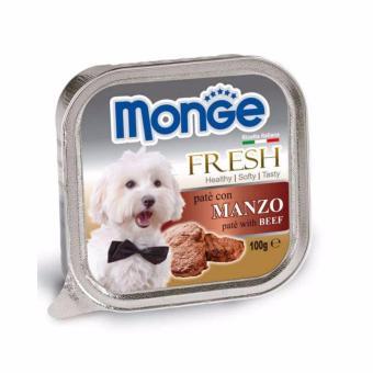 Pate Monge cho chó vị thịt bò 100g