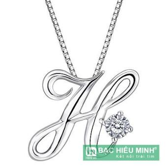Dây chuyền bạc ta theo tên BẠC HIỂU MINH T161 mặt chữ H