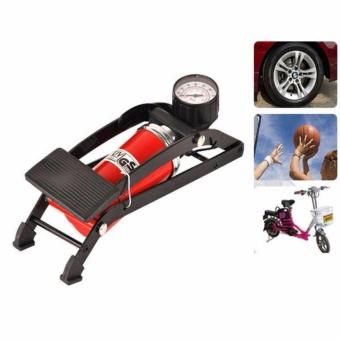 Bơm hơi đạp chân mini đa năng dành cho xe đạp, xe máy ( màu đỏ)