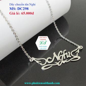 Dây chuyền Inox Nữ tên NGHI siêu xinh DC298 (TRẮNG)