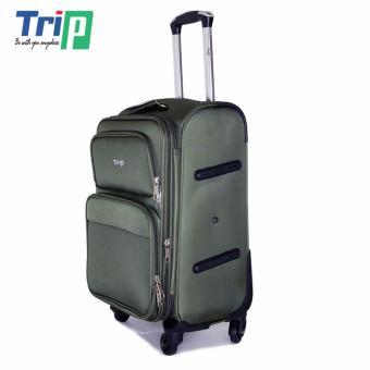 Vali Vải TRIP P036 Size M - 24inch (Xanh rêu)