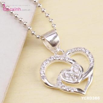 Mặt dây chuyền nữ trang sức bạc Ý S925 Bạc Xinh YCXD366