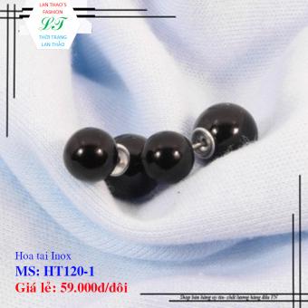 Hoa tai Inox Dior ngọc trai HT120-1