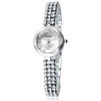 Đồng hồ nữ dây thép không gỉ KIMIO K475L-S01 mặt trắng