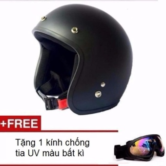 Mũ bảo hiểm 3/4 đầu + Tặng Kính chống tia UV