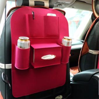 Túi bao đựng đồ 6 ngăn sau ghế ô tô AKINOSHOP kiêm bảo vệ ghế (Hồng) TH01