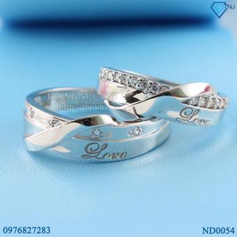 Nhẫn đôi Nhẫn cặp bạc đẹp ND0054