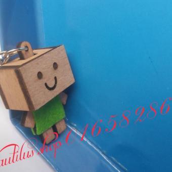 Móc treo chìa khóa Danbo Gỗ siêu dễ thương