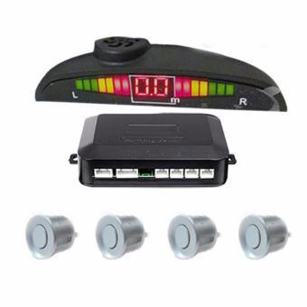 Bộ cảm biến lùi và cảnh báo va chạm xe hơi Parking sensor 4 mắt (màu bạc)
