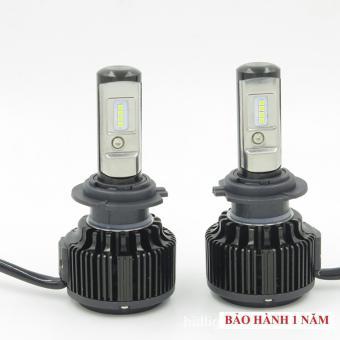 Bộ 2 bóng đèn led ô tô Hv shop turbo T6 - H7 6000k (30W) ( sáng trắng )
