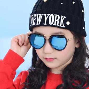 Kính mát thời trang đa giác cao cấp dành cho bé yêu Kids Love Korea 2017 F215 (Xanh)