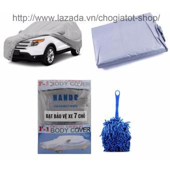 Bộ 1 bạt phủ bảo vệ xe 7 chỗ và 1 chổi lau dọn nội thất ô tô