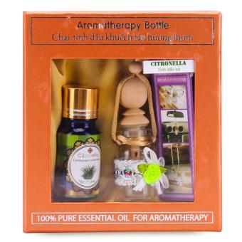 Bộ tinh dầu khuyến tán hương thơm treo ô tô hương sả java Ecolife FtraMart