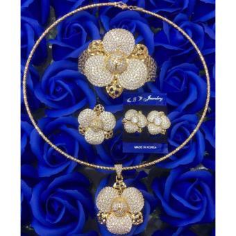 Bộ Trang Sức Nữ Xi Vàng 18k _ BTS130606 Gadoshop
