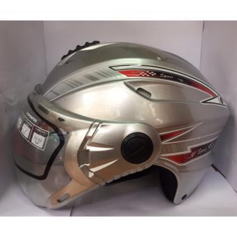 Mũ bảo hiểm cao cấp có kính 117 ( Ghi tem bạc )