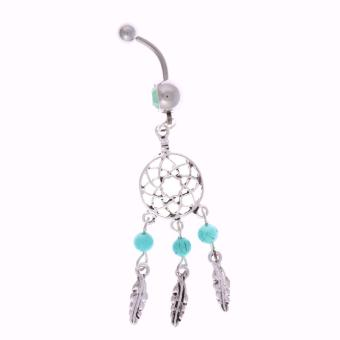 Dream Catcher Belly Ring Navel Buckle Button Body Piercing Jewelry Decor - intl
