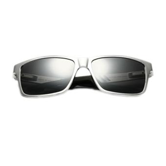 Fancyqube Aluminum-Magnesium Polarizer Men's Sunglasses Silver
