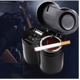Sạc điện thoại kèm ổ đựng tẩu thuốc lá trên xe máy H198 Charger Loại 1 (đen)